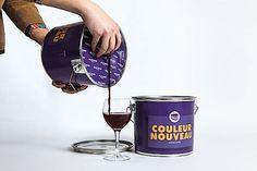 Verpackung: Beaujolais Nouveau im Farbeimer