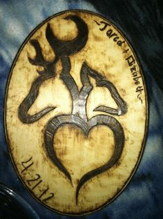 """Browning Buck and Doe with heart 9""""x4"""" :) will be making more of these"""