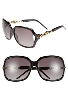 Gucci 'Marina Chain' 59mm Oversized Sunglasses available at #Nordstrom