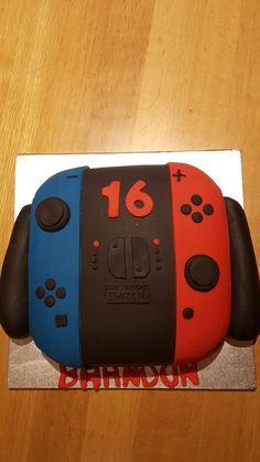 Nintendo switch controller birthday cake