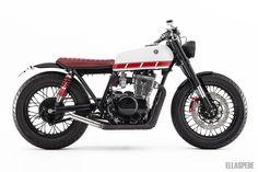 Esta versión de Yamaha XS 400 está poco vista por España pero no hemos evitar que se pase por aquí. Ellaspede un constructor australiano ha modificado esta
