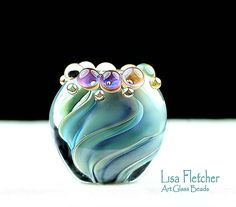 Lampwork bead by Lisa Fletcher.