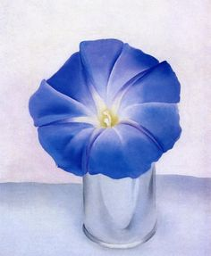 Georgia O'keeffe Blue Morning Glory print for sale. Shop for Georgia O'keeffe Blue Morning Glory painting and frame at discount price, ships in 24 hours. Georgia O'keeffe, Wisconsin, Santa Fe, New Mexico, Georgia O Keeffe Paintings, Blue Morning Glory, Art Sculpture, Deco Floral, Alfred Stieglitz