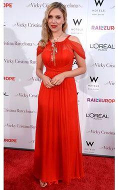 Scarlett Johansson - Vicky Cristina Barcelona film premiere - Monique Lhuillier gown.