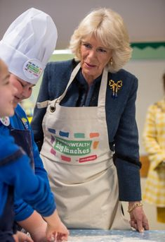 The Duchess of Cornwall, Patron, The Big Lunch, attends a Commonwealth Big Lunch with pupils from Barn Croft Primary School, Walthamstow, 13.03.2018