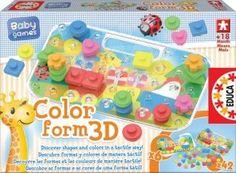 EDUCA 15498 priestorové puzzle Color form 3D Baby od 18 mes