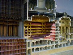 A large underfloor model of the Paris Opera neighborhood which lies underneath a clear glass floor which you can walk over. The model covers about ten feet square. Charles Garnier, Large Dolls House, Paris Opera House, Glass Floor, House Front, Logs, Clear Glass, The Neighbourhood, House Plans