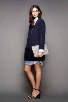 Fur trim on bottom of coat