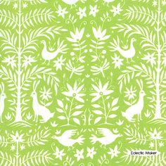 Lily Ashbury Folklore Otomi in Celery Lily Ashbury Folklore Otomi in Celery Moda fabric for patchwork quilting and dressmaking from Eclectic Maker [11480 12] : Patchwork, quilting and dressmaking fabric, patterns, habberdashery and notions from Eclectic Maker