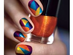 Catching Fire Movie Nail Art Tutorials - District 5
