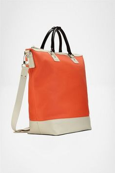 DVF Sporty Drew Bucket Canvas Bag in Orange