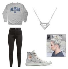 """""""Grays"""" by pam-casner on Polyvore featuring Levi's and Converse"""