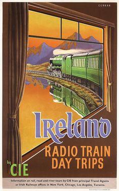 IRELAND Radio Train Day Trips by CIE - 1950's (Curran)