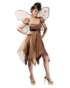 Womens Metallic Copper Fairy Costume