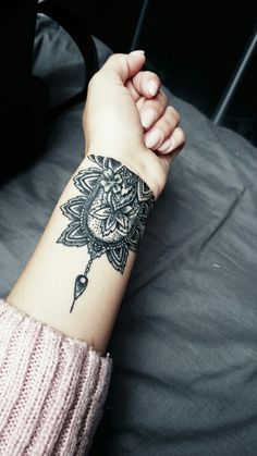 My mandala inspired wrist tattoo designed by myself <3