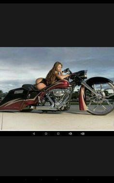 Girl Motorcycle, Biker Girl, Steampunk Motorcycle, Harley Davison, Road Rage, Baggers, Mädchen In Bikinis, Hot Bikes, Harley Davidson Bikes