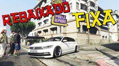 "PASSAT VARIANT REBAIXADO NA FIXA + ARO 20"" - GTA V (MOD CARROS REBAIXADO..."