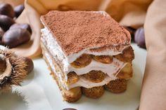 Hier ein alternatives Rezept zum klassischen #Tiramisu. Das leckere Maroni Tiramisu schmeckt außergewöhnlich und cremig. Trifle Desserts, Sweets Cake, Fabulous Foods, Cakes And More, Sweet Tooth, Bakery, Good Food, Food And Drink, Tasty