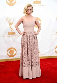 2013 Emmy Awards red carpet: January Jones in Givenchy.
