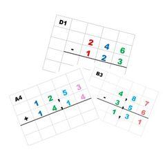 entraînement au calcul posé en colonne d'inspiration Montessori - La classe d'Eowin