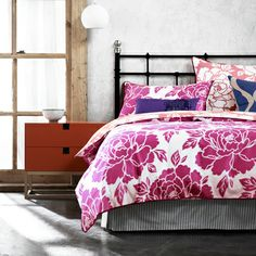 Peony Pink bed quilt cover