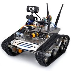 Saint-tech WIFI Robot Car Kit for Arduino, HD camera wireless wifi arduino DS robot Smart Car kit with antenna, Obstacle avoidance,tracking Wifi Arduino, Robo Arduino, Arduino Programming, Linux, Smart Robot, Smart Car, Diy Electronics, Electronics Projects, Robot Mobile