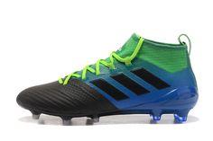c735ae480 Adidas ACE 17.1 FG ACC Black Blue Green Yellow Soccer Shoes Mens 2017