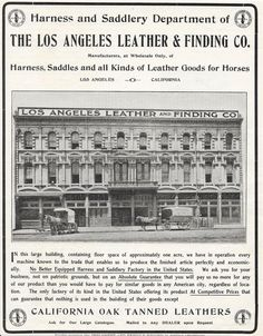 1905 The Los Angeles Leather & Finding Co