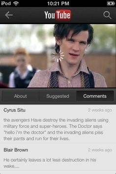 Great commentary on Doctor Who love love love!!!