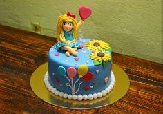 Cake #girasole #bimba #palloncini