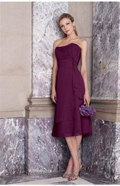 Sleeveless Chiffon Bridesmaid Dresses With Hanky Drapes - OuterInner.com