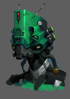 Robot-06, Dylan Wang on ArtStation at https://www.artstation.com/artwork/wZNyV