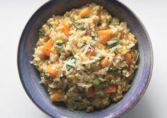 Risotto with Butternut Squash, Leeks, and Basil