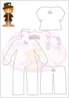 Felt Crafts, Diy And Crafts, Paper Crafts, Craft Patterns, Doll Patterns, Harry Potter Felt, Alice In Wonderland Crafts, Circus Party, Felt Dolls