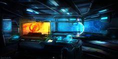 ArtStation - Sci Fi Bridge, Kevin McLellan