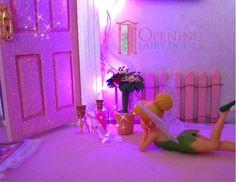 Pink Glitter Opening Fairy Door plus accessories Australian Made Opening Fairy Doors, Fairy Door Accessories, Fairy Furniture, Fairy Houses, Pink Glitter, Beautiful Hands, Fun, Handmade, Crafts