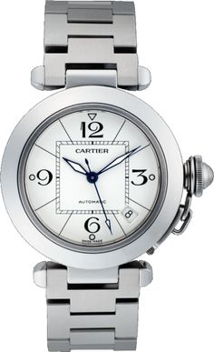 Pasha C de Cartier watch 35 mm, steel