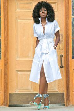 Crisp White Shirt Dress