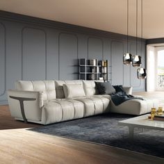 Designed by Manzoni & Tapinassi, Herman is the sofa that will give dynamism and originality to your living. Available in various configurations, give a touch of elegance to you environment! Luxury Chairs, Luxury Sofa, Luxury Furniture, Furniture Design, Leather Chair With Ottoman, Modern Leather Sofa, Leather Furniture, Leather Recliner, Living Room Sofa