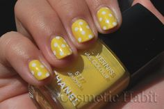 Chanel's Mimosa with white Polka Dots. Cute for Summer.