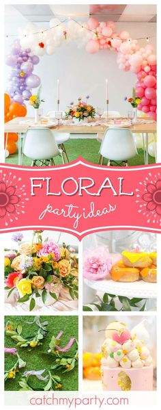 Take a look at this wonderful chic and elegant floral birthday party! The pink birthday cake is so pretty!! See more party ideas and share yours at CatchMyParty.com #floralbirthdayparty #girlbirthdayparty