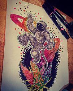 #artnshit #420 #psychedelic #galaxy - http://ift.tt/1VH9ijQ