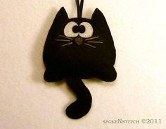 Cross Eyed Cat Ornament