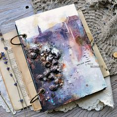 Handmade by Iya: текстурный блокнот.. снова город!