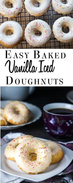 Easy Baked Iced Vanilla Doughnuts - Erren's Kitchen - This recipe makes a much…