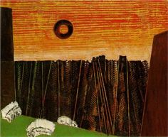 Fishbone Forest - Max Ernst, 1927  Surrealism, First French period, oil,  private collection
