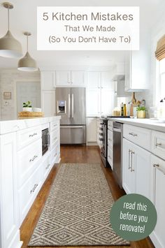 Learn from our kitchen remodel mistakes so you can avoid them in your own home.