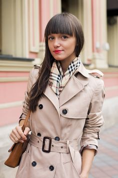 I wore my trench today. Now just need the Burberry scarf, and preferably purse.