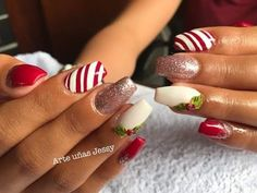 Christmas Nails, Christmas Manicure, Xmas Nails