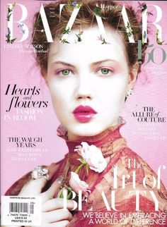 Harper's Bazaar magazine The art of beauty Fashion in bloom Couture dresses